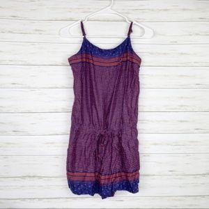 Loft | Blue And Red Dot Romper